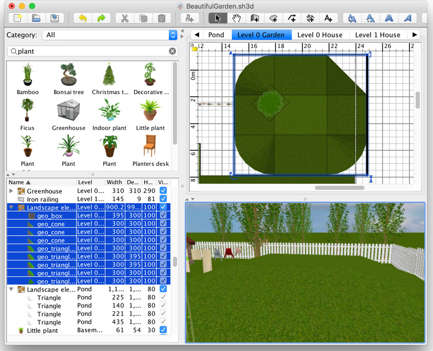How to design a beautiful garden - Sweet Home 3D Blog Triangle Shapes In Garden Design Html on