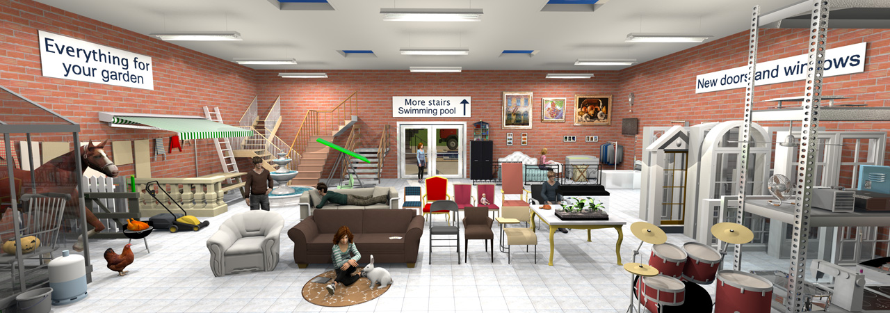 Supermarket. Furniture libraries 1 6   Sweet Home 3D Blog