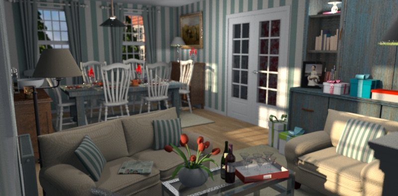 How to get a nice photo rendering sweet home 3d blog for Mobilia 3d para sweet home