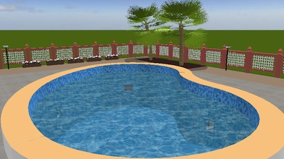 This Tip Shows How To Design A Nice Buried Swimming Pool With Sweet Home 3D