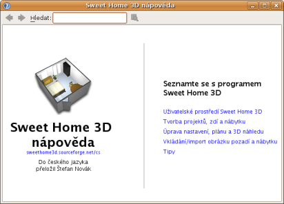 Sweet home 3d dokumentace for Sweet home 3d arredamento