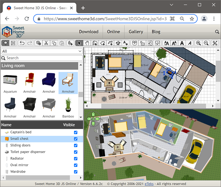 Sweet home 3d blog abu umamah for Progettare casa software