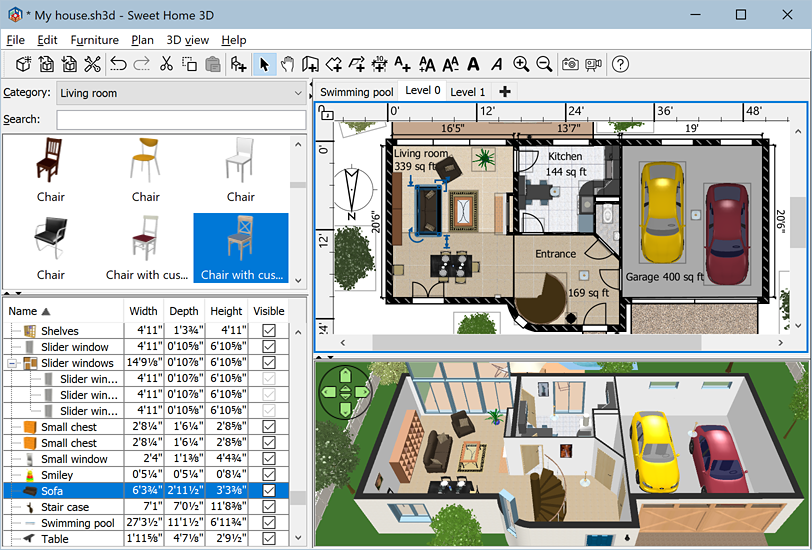 Sweet home 3d for Programas para hacer casas virtuales