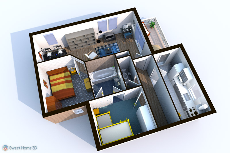 Sweet home 3d dessinez vos plans d 39 am nagement librement - Bibliotheque meuble sweet home d gratuit ...