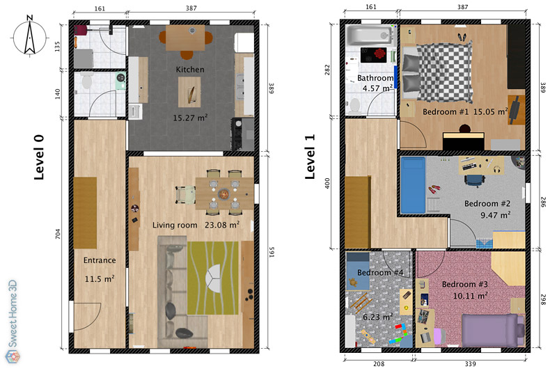 Drawing Floor Plans | Sweet Home 3d Draw Floor Plans And Arrange Furniture Freely