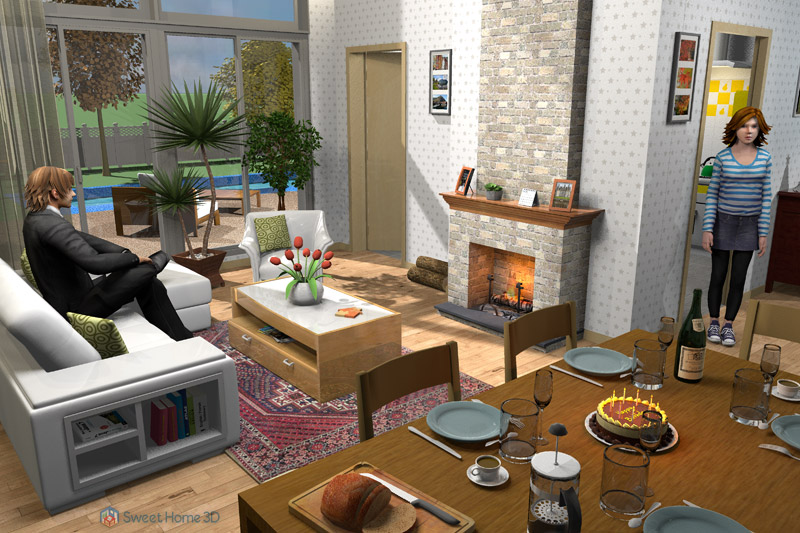 Pretty 3d Home Interiors Pictures Sweet Home 3d Draw