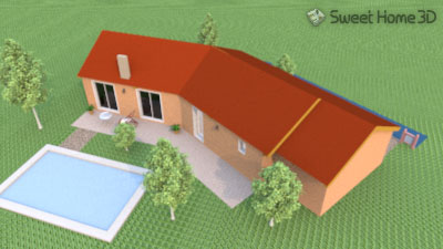 Escargot le sujet sweethome3d for Modele maison sweet home 3d
