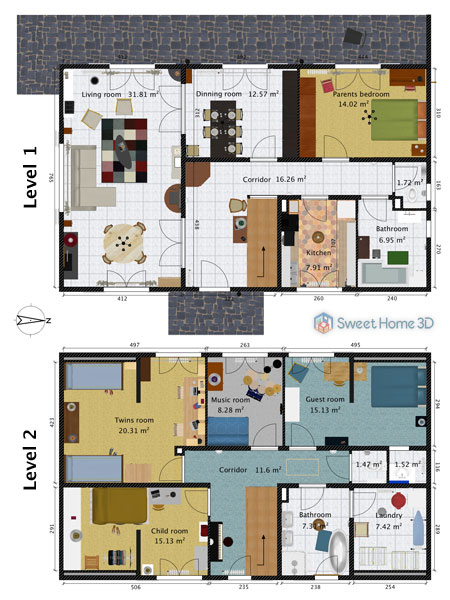 Brilliant Sweet Home 3D Gallery Interior Design Ideas Pimpapslepicentreinfo