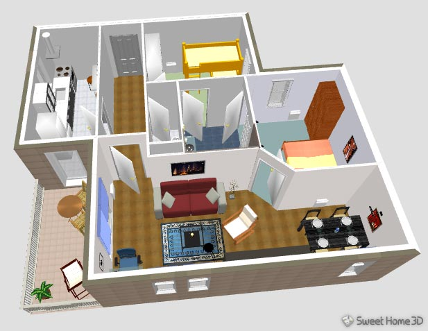 Sweet home 3d gallery for Programa para crear habitaciones 3d