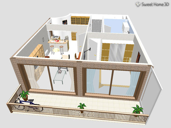 Sweet home 3d gallery for Modele maison sweet home 3d