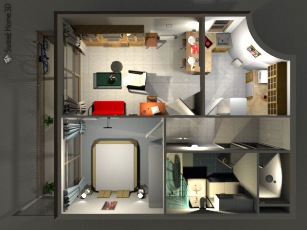 Sweet home 3d gallery for 3d house maker online