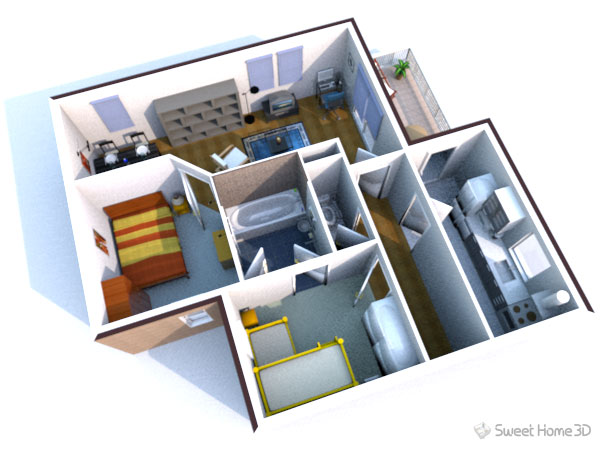 Sweet home 3d dessinez vos plans d 39 am nagement librement House plan 3d online