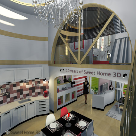 Sweet Home 3D - Draw floor plans and arrange furniture freely on curtains online, interior design online, design your own home online, web design online,