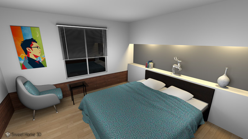 sweet home 3d - 3d Design Bedroom