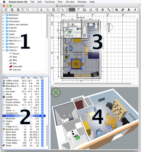 Sweet home 3d Home modeling software