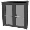 Emergency glass double door by Siath