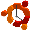 Ubuntu clock by Sleipnir1