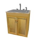 Wood cabinet with sink by Pencilart