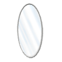 Oval mirror by Emmanuel Puybaret