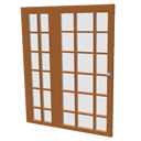 Patio glass door unit by Pencilart