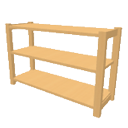 Pinewood rack low height by Dingenskirchen