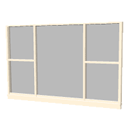 Rectangular 5 panes window by Pencilart
