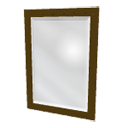 Rectangular mirror by Puybaret