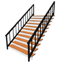 Staircase with wrought iron rails by Pencilart