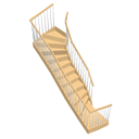 Double winder staircase by Ola-Kristian Hoff