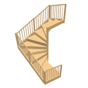 Triple winder staircase by Ola-Kristian Hoff