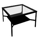 Glass coffee table by GdB