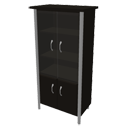 Black glass- door cabinet by Geantick
