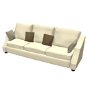 Sofa 3 seats by Scopia