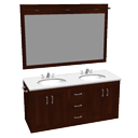 Double vanity by Scopia