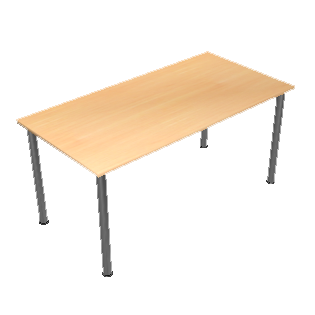 Wooden table by Scopia