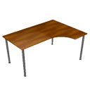 Wooden teak table by Scopia