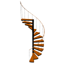 Spiral staircase by eTeks
